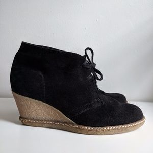 J.Crew MacAlister Black Wedge Boots / 9